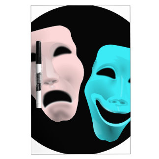Comic Theatre Masks Dry Erase Whiteboards
