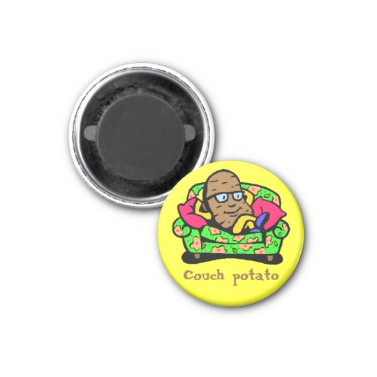 Comic Toon Couch Potato Magnet