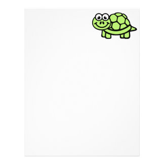 Comic turtle letterhead