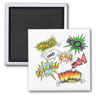 Comic Variety 2 Inch Square Magnet