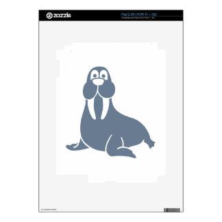 Comic walrus iPad 2 skins