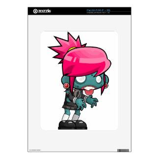 Comic Woman Zombie iPad Skins