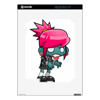 Comic Woman Zombie Skins For The iPad 2