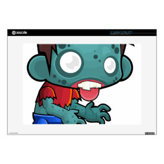 "Comic Zombie Boy Decals For 15"" Laptops"