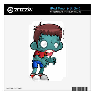 Comic Zombie Boy iPod Touch 4G Decals