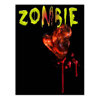 Comic Zombie Love Post Card