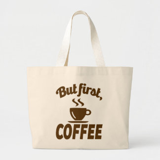 Comical Coffee Lovers Large Tote Bag