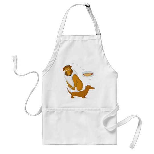 Comical Collie and Dachshund Adult Apron