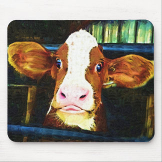 Comical Cow Face Mousepads