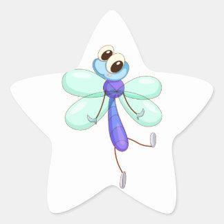 Comical creature star sticker