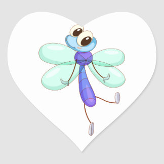 Comical creature heart sticker