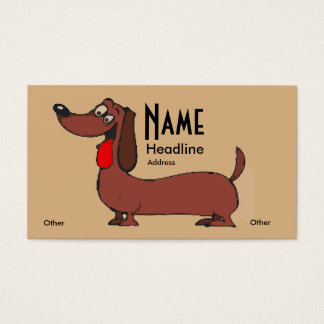 Comical Dachshund Dog Business Card