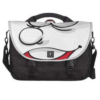 Comical face laptop bags