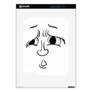 Comical face decals for iPad 2