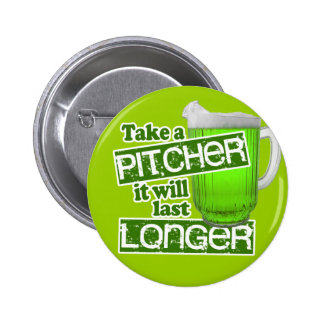 Comical Green Beer Day 2 Inch Round Button