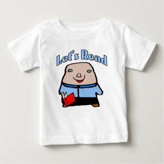 Comical: Let's Read Face Infant T-shirt
