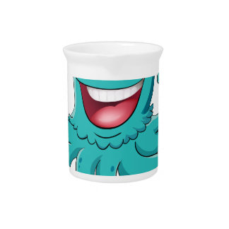 Comical octopus on white drink pitcher