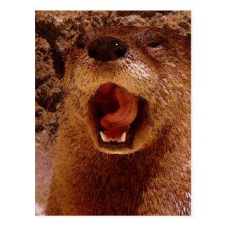 Comical Otter ~ Photo Art Postcard