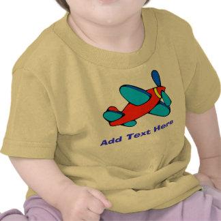 Comical Plane add text Tshirts