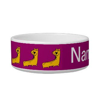 Comical Puppy Purple Bowl