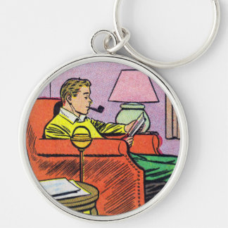 COMICAL Round Keychain | A Man's Man