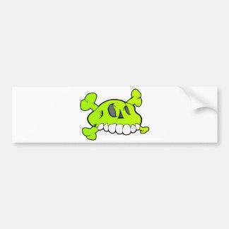 Comical Skull Bumper Sticker