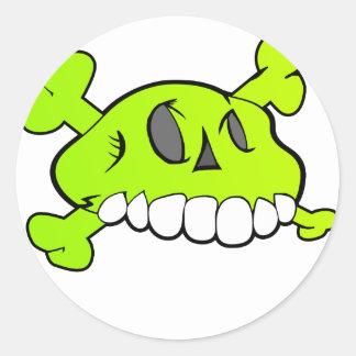 Comical Skull Sticker