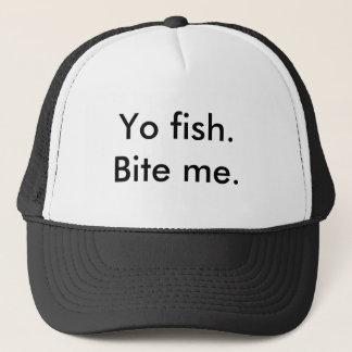Comical tees in various saying trucker hat