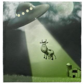 Comical UFO Cow Abduction American MoJo Napkins