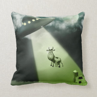 Comical UFO Cow Abduction American MoJo Pillows