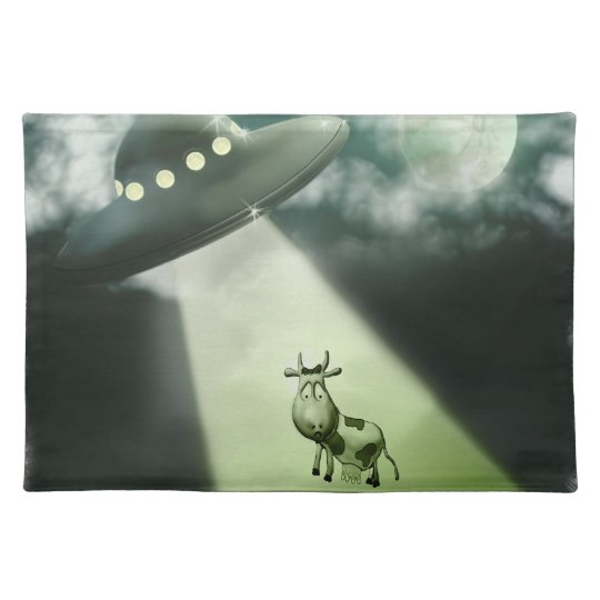 Comical UFO Cow Abduction American MoJo Placemats