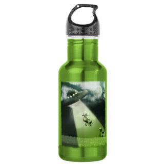 Comical UFO Cow Abduction  Liberty Bottle 18oz Water Bottle