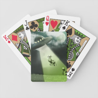 Comical UFO Cow Abduction  Playing Cards