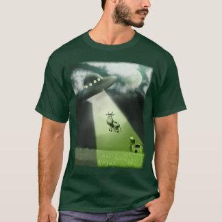 Comical UFO Cow Abduction T-Shirt