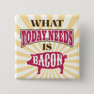 Comical Vintage Style Bacon Meme Pinback Button