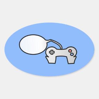 Cómico al pegatina del logotipo de los juegos