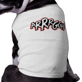 ¡Cómico - ARRRGGH! Camiseta del mascota Playera Sin Mangas Para Perro