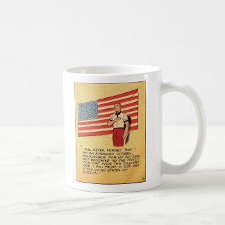 Cómico comunista retro de América 50s del kitsch Taza De Café