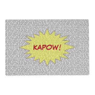 Cómico hable el placemat de KAPOW Tapete Individual