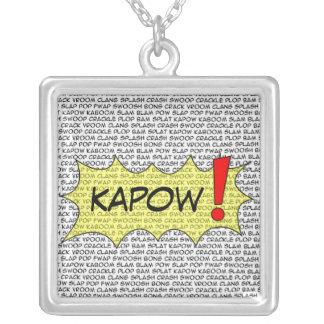¡Cómico hable KAPOW! colgante