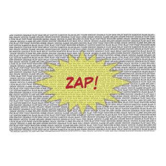 Cómico hable ZAP el placemat Salvamanteles