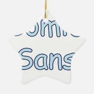 cómico sin adorno navideño de cerámica en forma de estrella