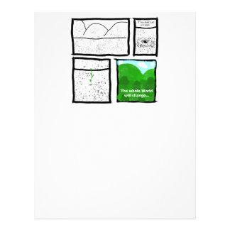 Cómico verde membrete a diseño