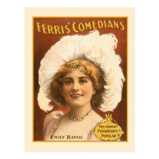 Cómicos de Ferris del poster de las artes Postales