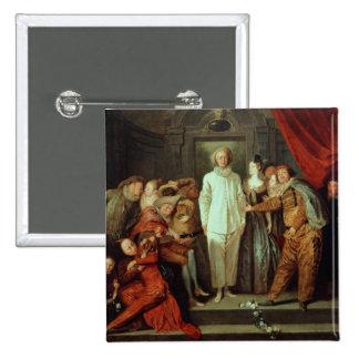 Cómicos italianos, c.1720 pin cuadrado