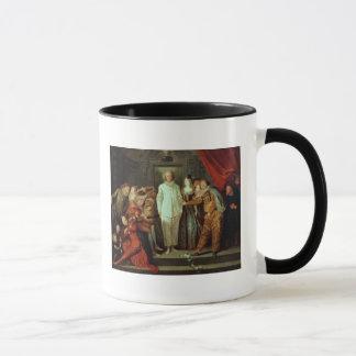 Cómicos italianos, c.1720 taza