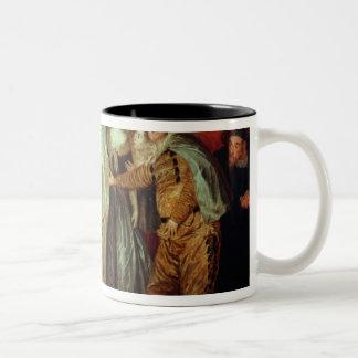 Cómicos italianos, c.1720 taza de café de dos colores