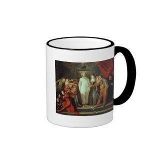 Cómicos italianos, c.1720 taza de dos colores