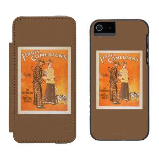"""Cómicos """"marcapasos de Ferris en los precios Funda Billetera Para iPhone 5 Watson"""