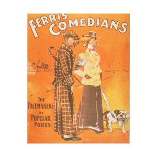 """Cómicos """"marcapasos de Ferris en los precios popul Impresión En Lienzo"""
